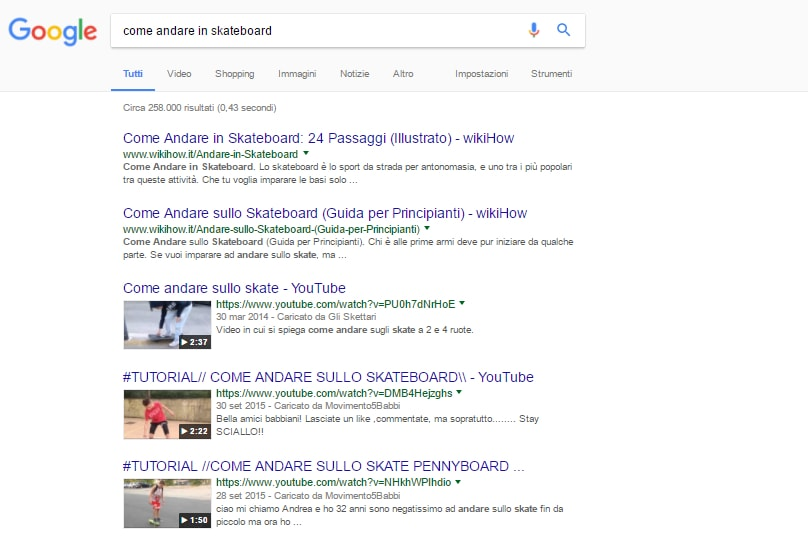 Risultati video Google