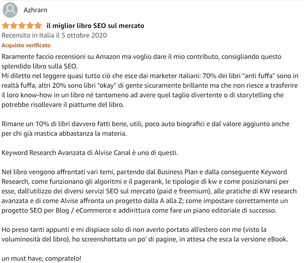 Recensione Keyword Research Avanzata